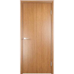 Гладкая шпонированная дверь (светлый орех)