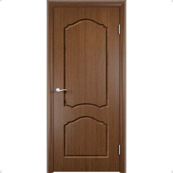 Шпонированная дверь Каролина (глухая, темный орех)