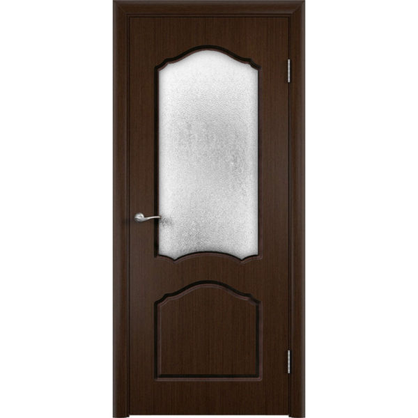 Шпонированная дверь Каролина (со стеклом, венге)