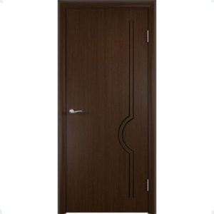 Шпонированная дверь Молния (глухая, венге)