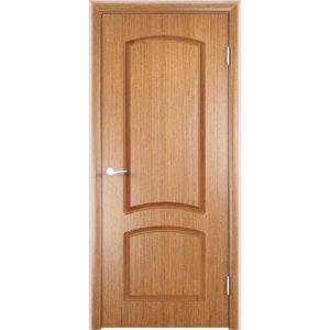 Шпонированная дверь Наполеон (глухая, светлый орех)