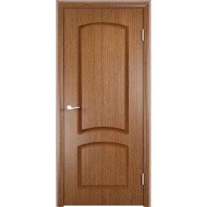 Шпонированная дверь Наполеон (глухая, темный дуб)