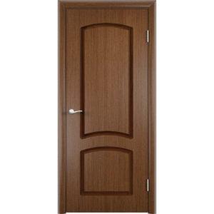 Шпонированная дверь Наполеон (глухая, темный орех)