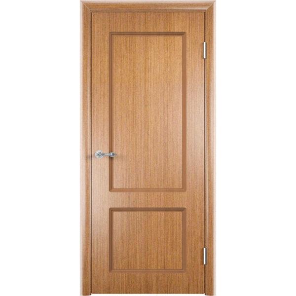 Шпонированная дверь Марсель (глухая, светлый орех)