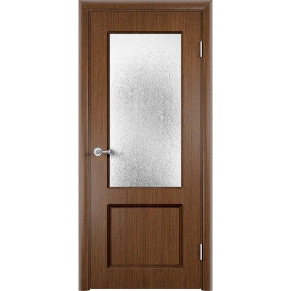 Шпонированная дверь Марсель (со стеклом, темный орех)