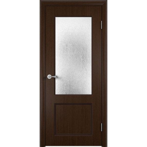 Шпонированная дверь Марсель (со стеклом, венге)