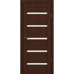 Межкомнатная царговая дверь М-05 (со стеклом, орех вела)