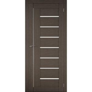 Межкомнатная царговая дверь Д-01 (со стеклом, грей)