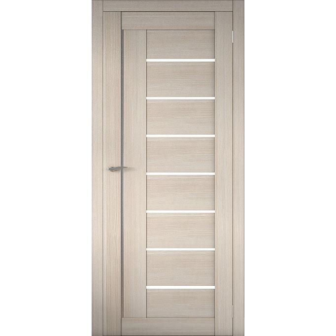 Межкомнатная царговая дверь Д-01 (со стеклом, кремовая лиственница)