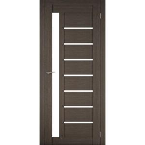 Межкомнатная царговая дверь Д-02 (со стеклом, грей)