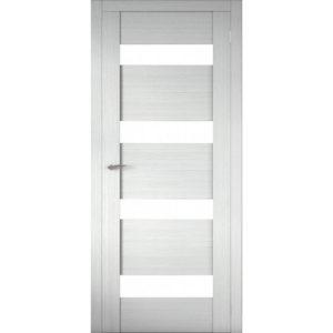 Межкомнатная царговая дверь Р-02 (со стеклом, белая лиственница)